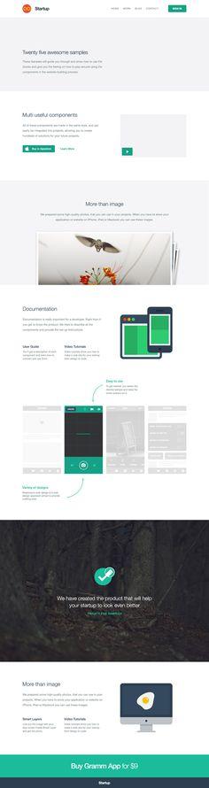 Startup Framework with Website Generator - #design #framework #html #css #freebie #generator #flatdesign #webdesign