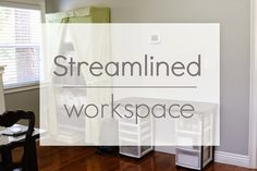 simply organized: One Day I'm Going To Get More Organized - More Office Tweaking