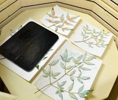 """Rose Mary's Clay: """"Fossil Vitra"""" Fused Glass. I might experiment with cutouts in kiln paper with sheets of solid color or clear on top, etc."""