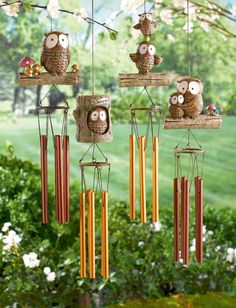 What a hoot. Owl Wind Chimes