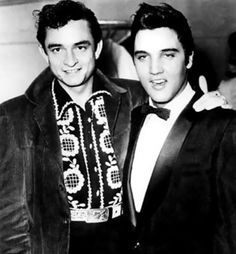 Johnny Cash and Elvis Presley inducted into both the Rock and Roll Hall of Fame and The Country Music Hall of Fame