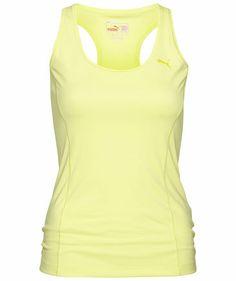 4eb45612e82949 Puma - Damen Lauftop Ess Gym Long Tank - lime  puma  sportsfashion  yellow
