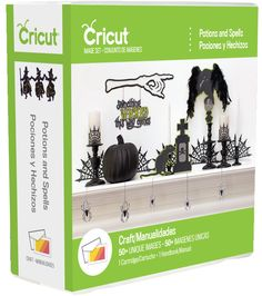 Cricut potions and spells cartridge for Halloween paper cutting fun Decorative Paper Crafts, Diy Paper, Monster Shapes, Printable Sticker Paper, Witch Spell Book, Cricut Cartridges, Creative Memories, Craft Tutorials, Craft Gifts