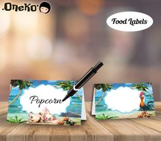 SALE Moana Food Labels DIY Printable / Moana Food Tents /