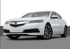 2015 Acura TLX White Sedan exterior ground level front view