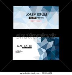 abstract premium business creative logo banner design blue polygon geometric card vector set background and can fill text or show your product