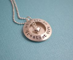 Locket Necklace Hand Stamped Sterling Silver Locket by CandidGrace, $60.00