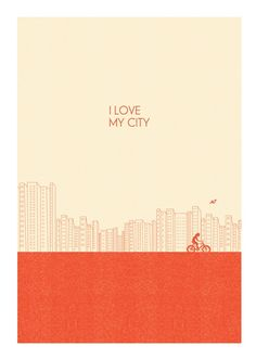 I love my city! Bicycle Graphic Design