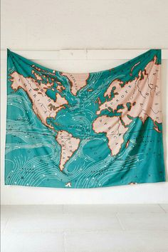 Nordic blue ocean map tapestry scenic outdoor picnic mat wall 4040 locust ocean current tapestry urban outfitters forose of us who collect maps this ocean current cotton blanket tapestry would make a gumiabroncs Image collections