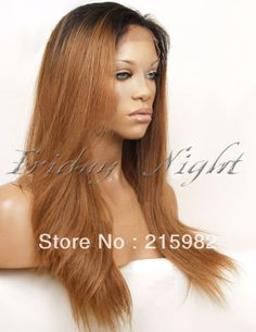 Freeshipping ombre unprocessed virgin brazilian hair straight ombre hair wig heavy density full lace wig for african americans $170.00 - 320.00