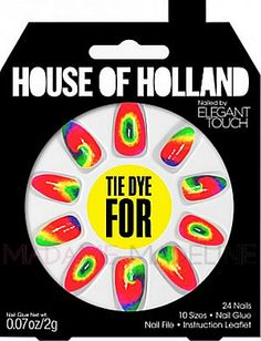 House Of Holland Nails By Elegant Touch - TIE DYE FOR #nails #madamemadeline #hoh