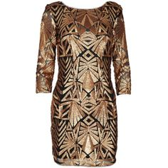 MELISSA Black and Bronze Sequin Bodycon Dress ($345) ❤ liked on Polyvore featuring dresses, sparkly dresses, sparkly bodycon dress, bronze sequin dress, night out dresses and sleeve cocktail dress