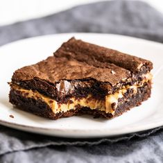 Peanut Butter Stuffed Brownies - Handle the Heat