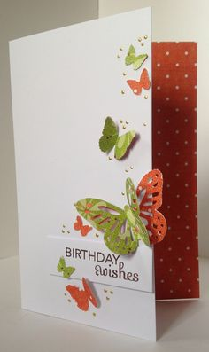 These are the other cards I made using the papers from Craftwork Cards, Not just for Christmas .   I only used a few punches, a sentiment st...