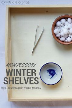 Check out these fresh, fun, and new ideas for your winter Montessori shelves. Perfect for the holiday season, too!