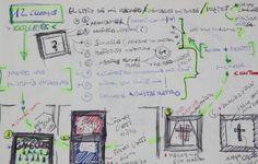 """boceto de Cuadro """"memory frame"""" de moix - Caja cuadro  decorativo para ser fijada a pared. 75 €."""