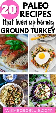 Make one or all of these Paleo ground turkey recipes to stay on top of your diet needs while giving you delicious meals everyone loves! Add these recipes to your meal plan to create fresh new ideas that are sure to be a favorite of kids and adults alike. Easy Paleo Dinner Recipes, Best Paleo Recipes, Delicious Meals, Ground Turkey Recipes Whole 30, Ground Turkey Tacos, Turkey And Green Beans, Meals Everyone Loves, Turkey Bolognese, Low Carb Chili