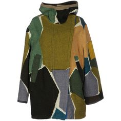 Missoni Coat ($2,760) ❤ liked on Polyvore featuring outerwear, coats, military green, military style wool coat, military fashion, missoni coat, green coat and brown wool coat