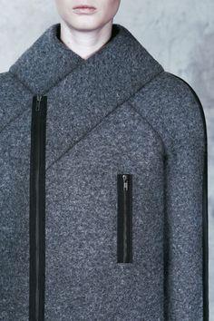 Architectural Fashion - felt coat design inspired by Totalitarian aesthetics; innovative fashion // DZHUS AW15