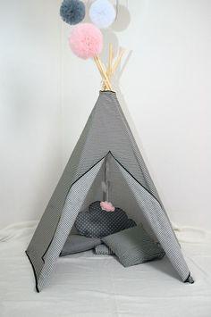 #pacztipi #pacz #teepee #tipi #wigwam #tent #crochet #pillows #stars #clouds #radosnafabryka #handmade Cotton Fabric, Cotton Textile