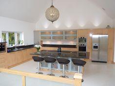 Tan brown #granite worktops by Margrasil, Sussex UK.   #kitchen