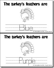 FREE Turkey Color Books November Thanksgiving, Thanksgiving Turkey, Turkey Colors, Turkey Feathers, Emergent Readers, Preschool Themes, Busy Bags, Tot School, Holiday Activities