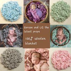 100% pura lã Filler almofada cobertor fotografia recém-nascido fundo adereços fotos de estúdio modelagem assistida por enchimento cesta Stuffer(China (Mainland))