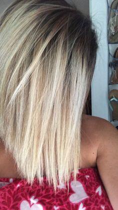Ombre hair shadow root Bright blonde Jolie Cheveux Lexington NC