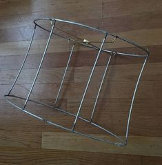 Vintage wire lamp shade frame for bell shape old victorian lampshade vintage metal lampshade frameovalindustrialdiy greentooth Image collections