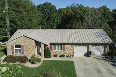 Lester Buildings Eclipse Metal Roof Re-Roof. Re-Roof with Eclipse Roof System in Clay. #metalroof #residential #exteriordesign #homedesign #modernroof #eclipsemetalroof #reroof