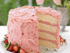 This beautiful Strawberry Mousse Cake recipe is ideal for brunch, baby showers, or any springtime celebration.