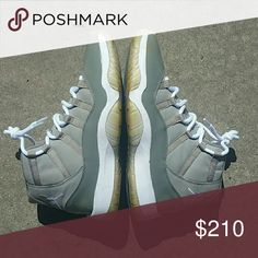 Jordan 11 Cool Grey 8/10 Condition No OG box Flaw is seen in pic 4 NO LOWBALLERS Jordan Shoes Sneakers