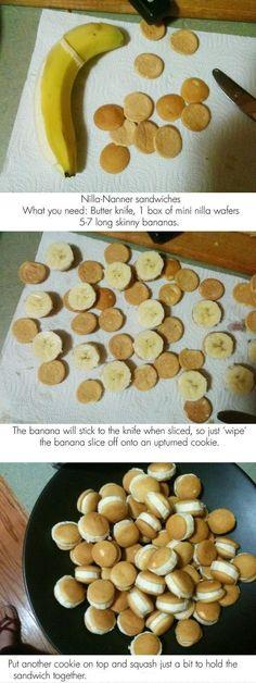 Mini Nilla Wafers Sandwich Banana...