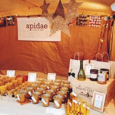 My little wooden hut at the Christkindlemarkt in Radolfzell, Germany. www.apidaecandles.de