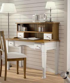 escritorio juvenil estilo clásico de dos cajones colección Decco de Seys, estos y mas muebles en: http://rusticocolonial.es/