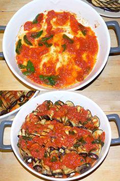 Involtini di melanzane Pugliesi Veg Recipes, Italian Recipes, Cooking Recipes, Healthy Family Meals, Antipasto, Ratatouille, Fett, Side Dishes, Food Porn