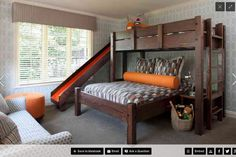 Slide, double bed, ladder on the side ... check, check, check!