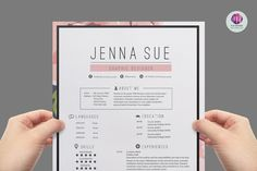 Floral resume package by Chic templates on @graphicsmag
