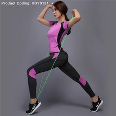 acd6a642d44a3 LYNSKEY Women Yoga Set Gym Fitness Clothes Tennis Shirt+Pants Running  Tights Jogging Workout Yoga Leggings Sport Suit plus size