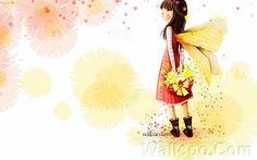 Kim Jong Bok Illustrations(Vol.03) - Cartoon Cute Fairy Girl  - Art Illustration : Cute  Fairy Girl  in Spring  25