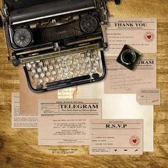 vintage telegram wedding stationery set  by idoityourself on Etsy, $15.00