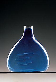 Jaroslav Taraba, 1965-66, glass vase object, glassworks Lednicke Rovne, Czechoslovakia, property of SNG Bratislava
