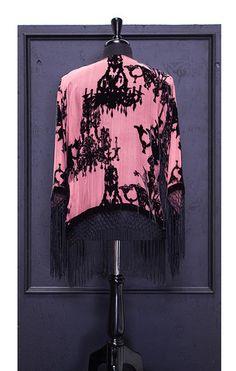 Baroque Chandelier Velvet Burnout Fringe Kimono - Saltwater Gypsy