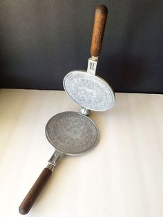 Nordic Ware Scandinavian Krumkake Iron - Patterned Waffle Cookie Pizzelle Maker