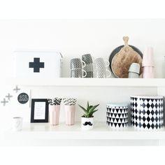 great kitchen shelf, homewares, accessories, home decor, sandi, monochrome, display, interiors