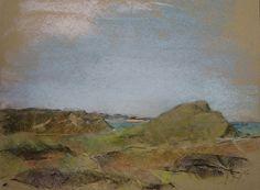 Sand dune landscape,  fra Boegested Rende towards Vorupoer by Deborah…