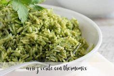 Arroz verde con Thermomix - Recetas para Thermomix Rissoto Thermomix, Paella, Risotto, Sin Gluten, Ratatouille, Guacamole, Green Beans, Cereal, Grains