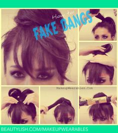 HOW TO: FAKE HAVING BANGS WITH A HAIR BUN TUTORIAL | DEMI LOVATO inspired | Tina - MakeupWearables L.s (makeupwearables) Photo | Beautylish