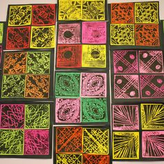 Fulton Sunshine Academy Art Lab: 4th Grade - Rotational Symmetry Printmaking