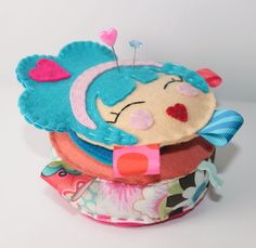 Felt Pincushion and Needle Keeper Sewing Set  by blushful on Etsy, $28.50....So Cute! I might have to buy this one!